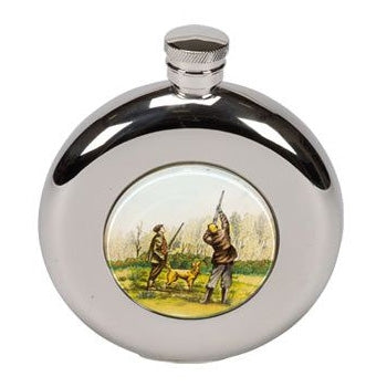 Bisley 4.5oz Round Stainless steel hip flasks