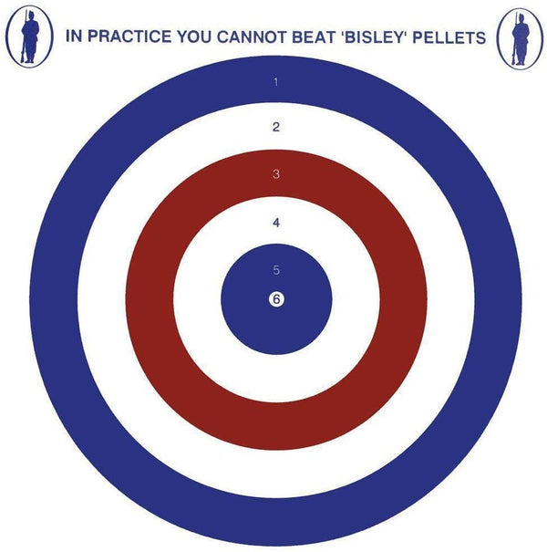 Bisley 17cm Coloured Targets Economy Card Grade 2 Pack of 100