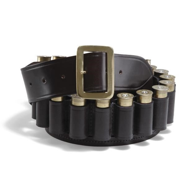 Croots Malton Bridle Leather 12 Gauge Cartridge Belt
