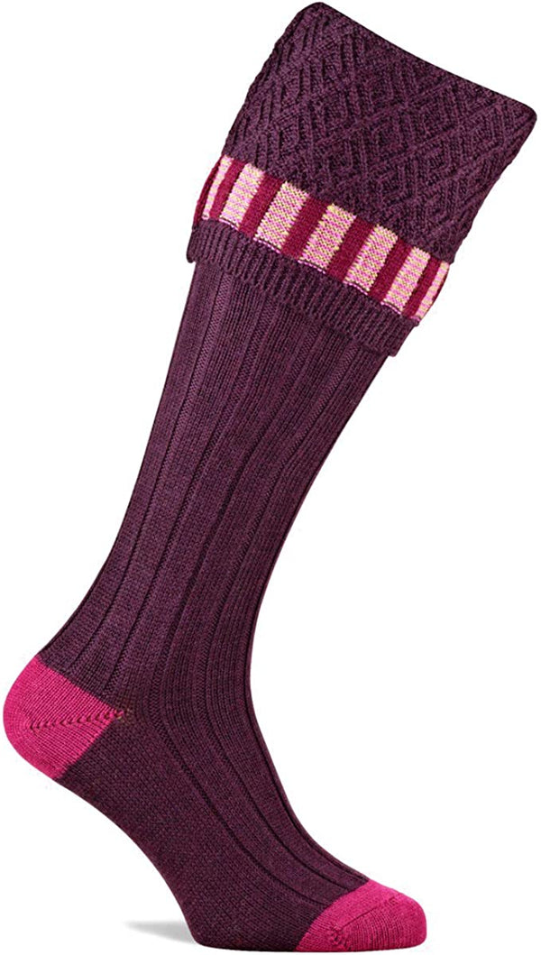 Bristol Shooting Sock Burgundy