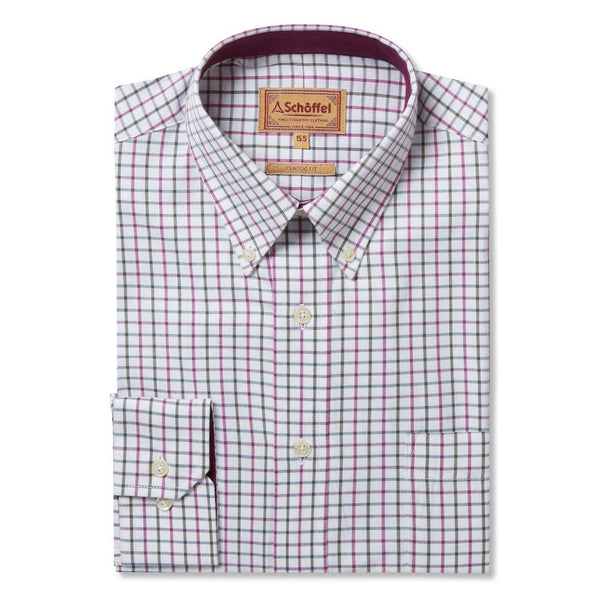 Banbury Shirt (Pink & Olive Check)