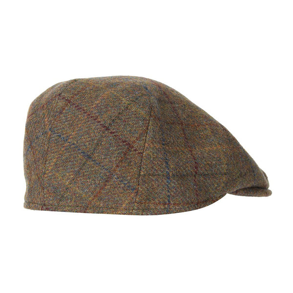 Wool Crieff Flat Cap (Brown/Red/Blue)