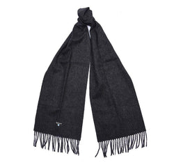 Barbour Plain Lambswool Scarf (Charcoal)