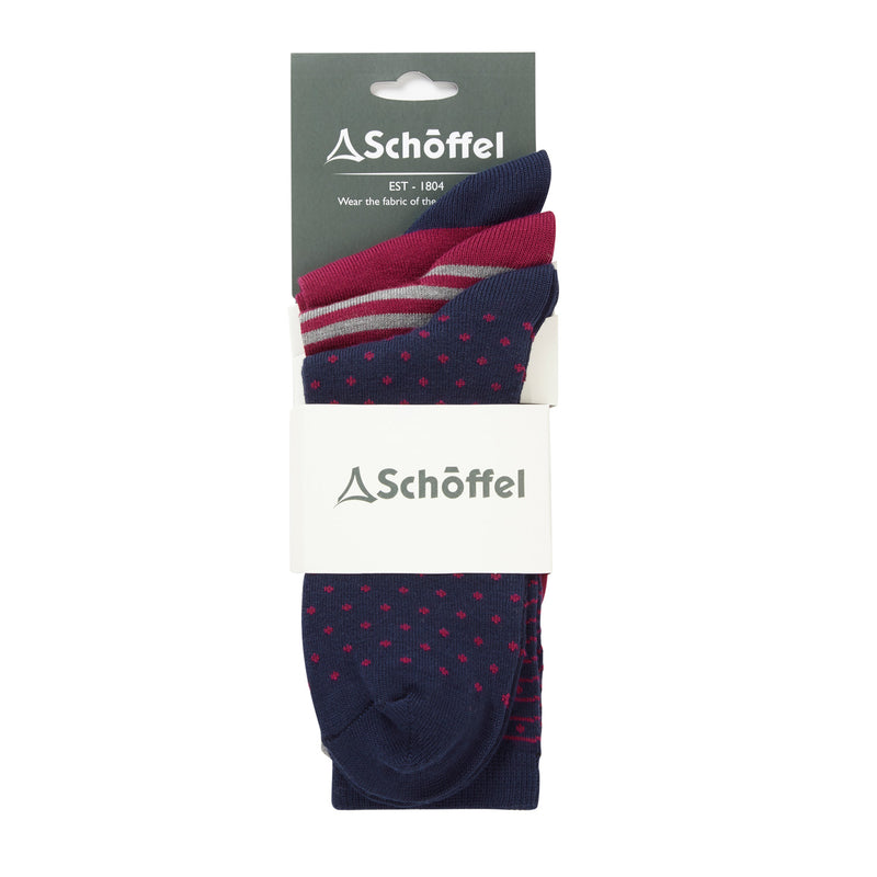 Beck Bamboo Socks (Pack of 3 -Navy mix)
