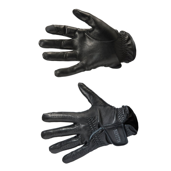 Target Leather Gloves (Black & Grey)