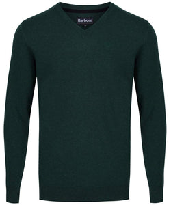 Essential Lambswool V Neck Jumper (Bottle Green)