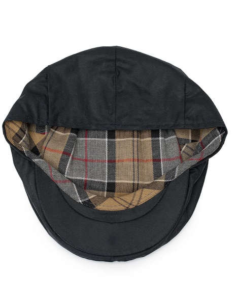 Waxed Flat Cap (Navy)