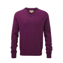 Cotton Cashmere V Neck (Plum)
