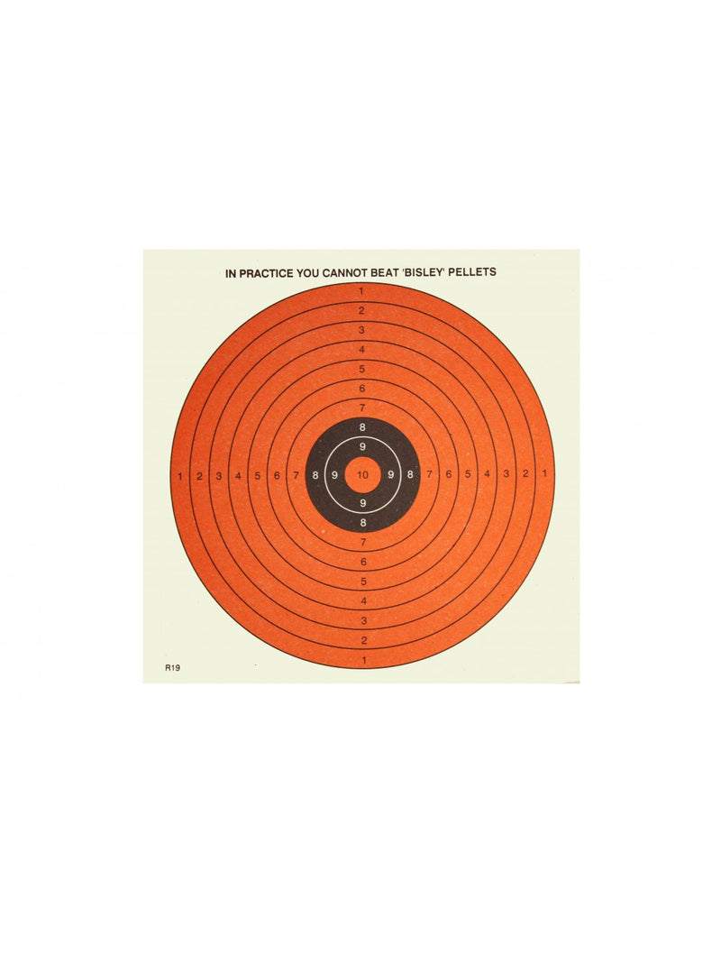 Bisley 14cm Dayglow Targets Grade 1 Pack of 50