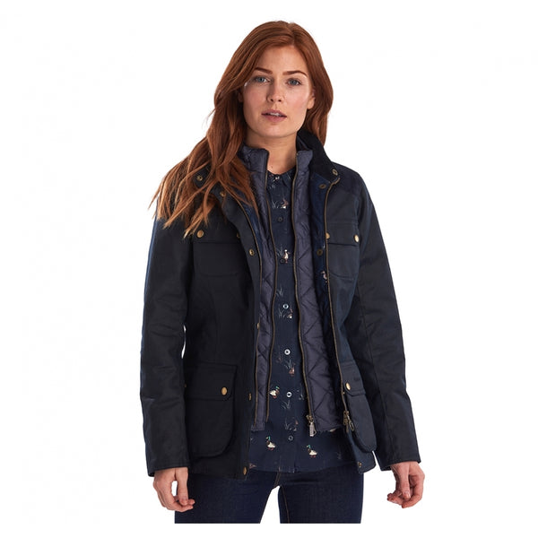 Dene Wax Jacket (Navy)