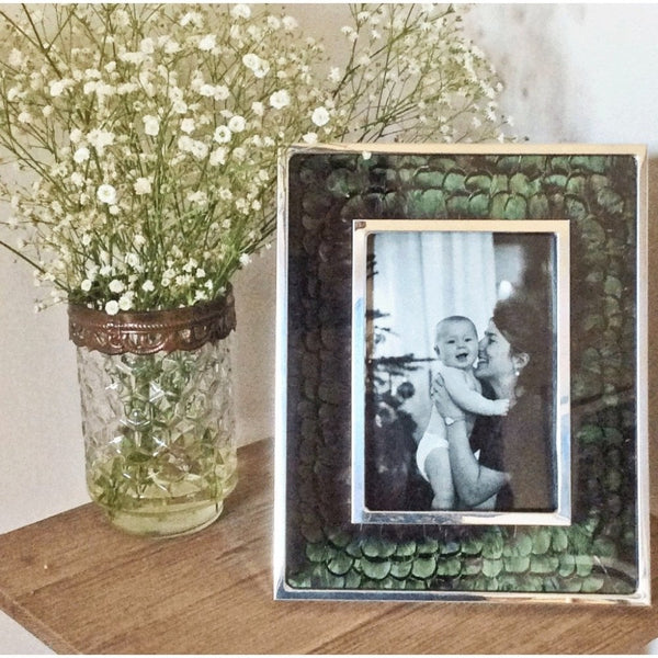 Green Pheasant & Glass Photo Frame