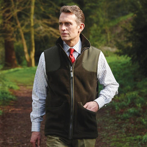 Gunthorpe Shooting Vest (Dark Olive)