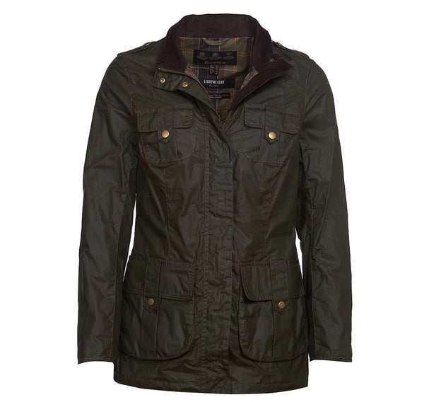 Lightweight Defence Waxed Jacket (Olive)