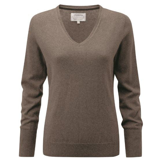 Schoffel Cotton Cashmere V Neck Jumper (Mink)