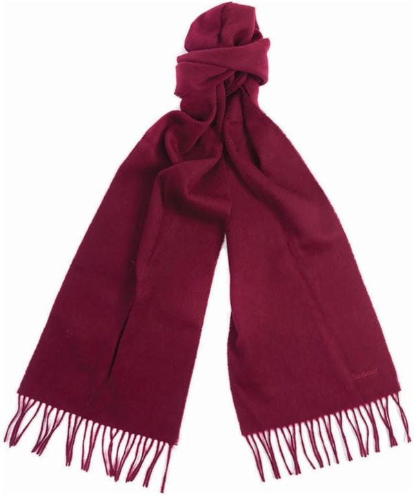 Plain Lambswool Scarf (Burgundy)