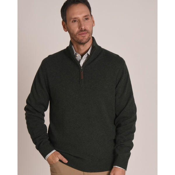 Country Lambswool 1/4 Zip (Forest)