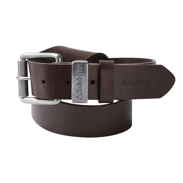 Schoffel Mens Country Clothing Dark Brown Leather Belt
