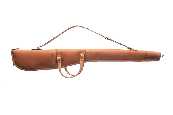 "Handmade Leather Gun slip with handles 32"" /130cm (Brown)"