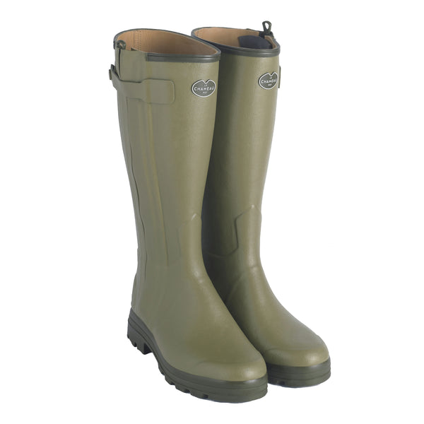 le chameau mens boots green countryside wellies
