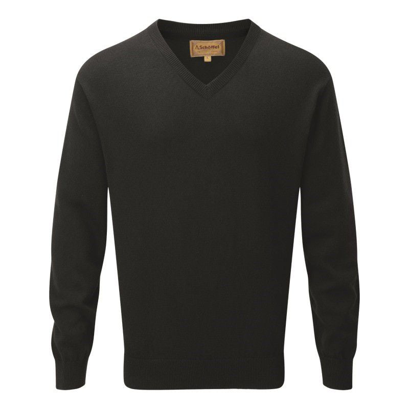 Cotton Cashmere V Neck (Forest Green)