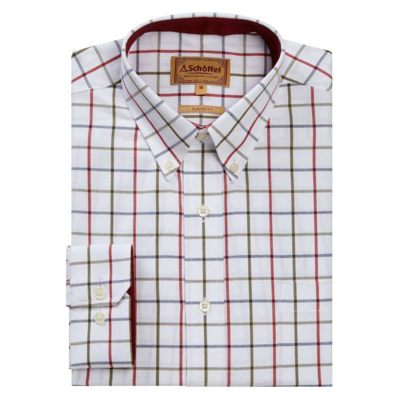Brancaster Shirt (Red/Navy/Olive)