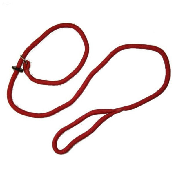 Loose Red Braid Dog Slip Lead
