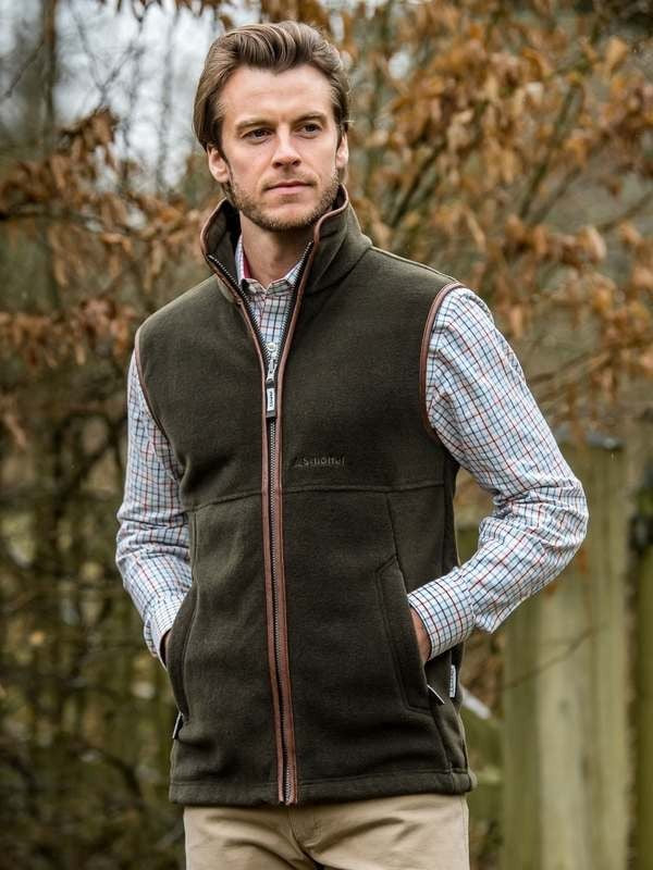 Oakham Fleece Gilet (Dark Olive)