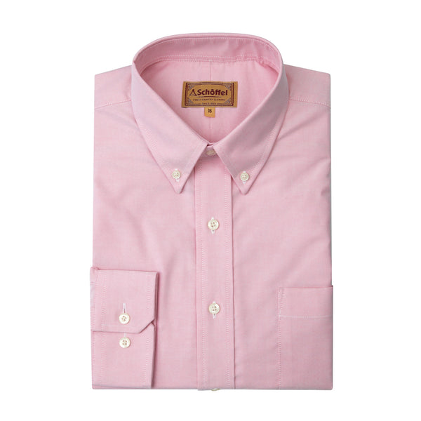 Schoffel Mens Shirt Oxford Pink country clothing