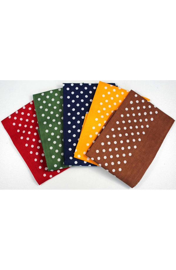 5 Colour Spotted Hankies