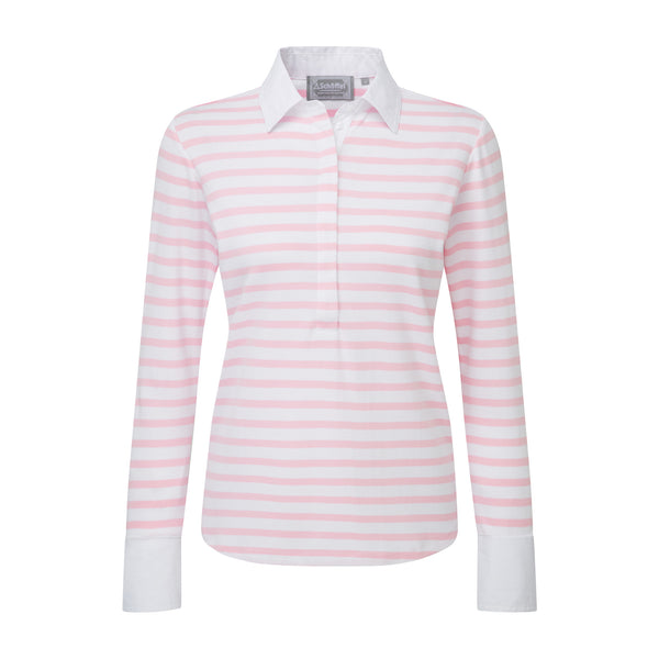 Salcombe Shirt (Harbour Stripe Pink)