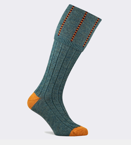 Devonshire Shooting Sock (Lovat Tweed)