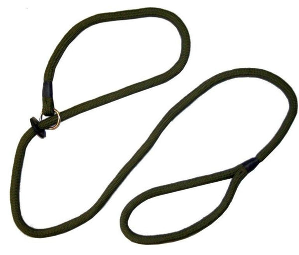 Loose Green Braid Dog Slip Lead