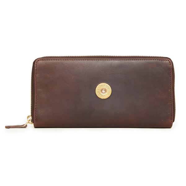 Zip Around Purse 12 Bore (Brown)