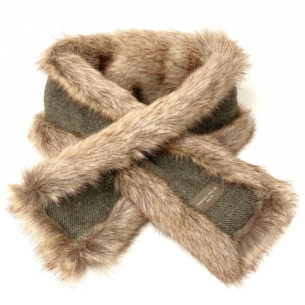Neck Warmer (Natural & Dark Green)