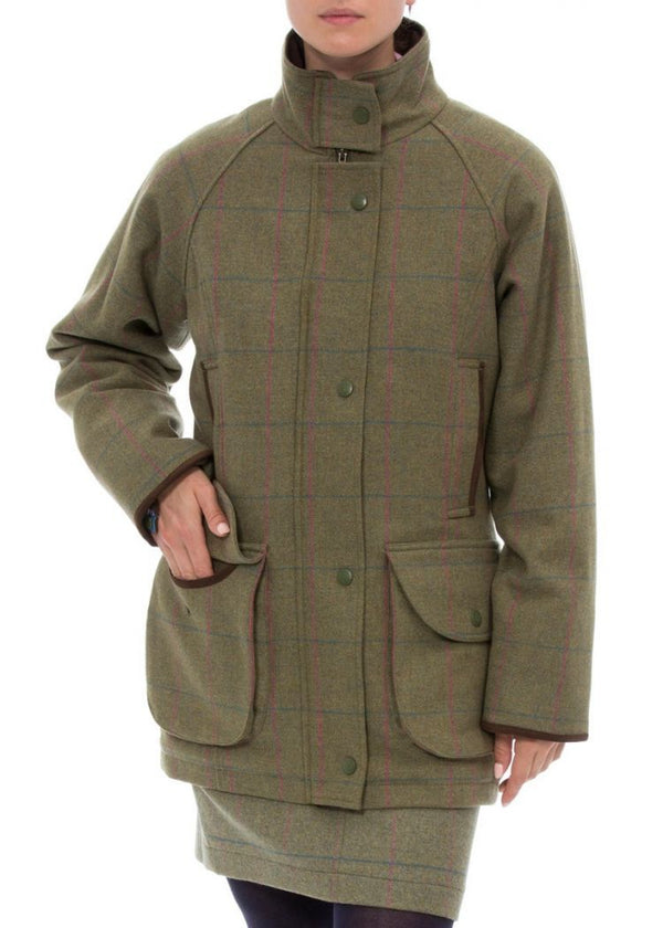 Combrook Tweed Shooting Field Coat (Juniper)
