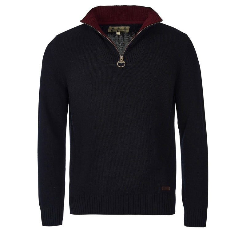 Barbour Mens Jumper Nelson Navy countryside clothing