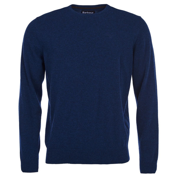 Essential Lambswool Crew Neck Jumper (Deep Blue)