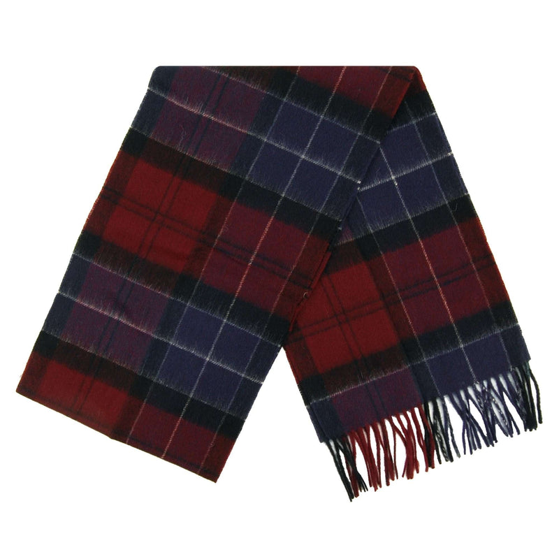 Barbour Holden Lambswool and Cashmere Scarf (Port/Navy))