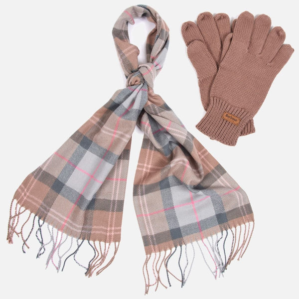 Beige Glove and Scarf Gift set