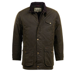 barbour mens cole waxed jacked olive