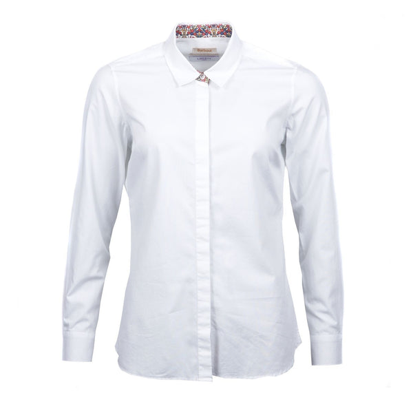 barbour hyde shirt white ladies