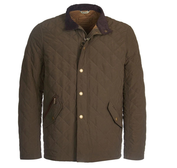 Barbour mens quilted brown jacket