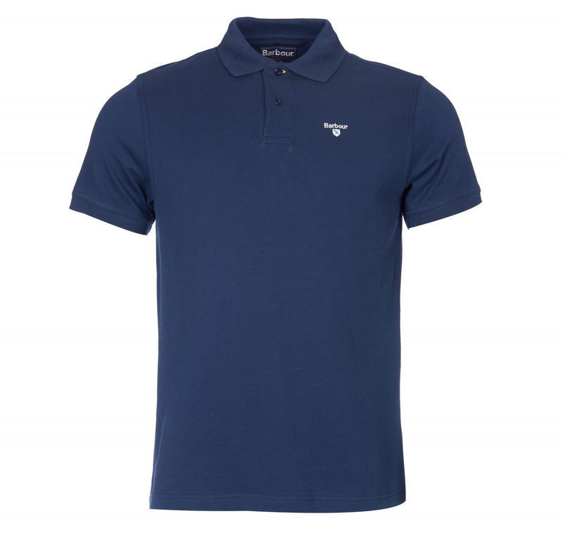barbour mens t-shirt sports polo navy