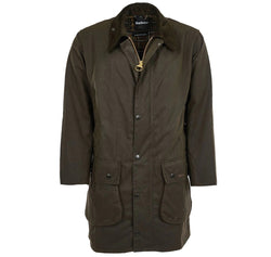 barbour mens classic waxed jacket green northumbria