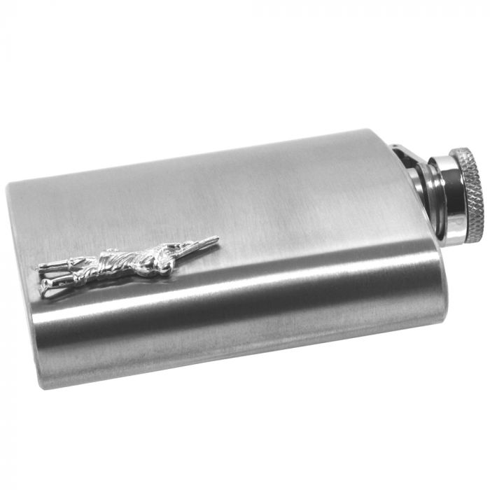 Country Living 6oz Stainless Steel Hip Flask
