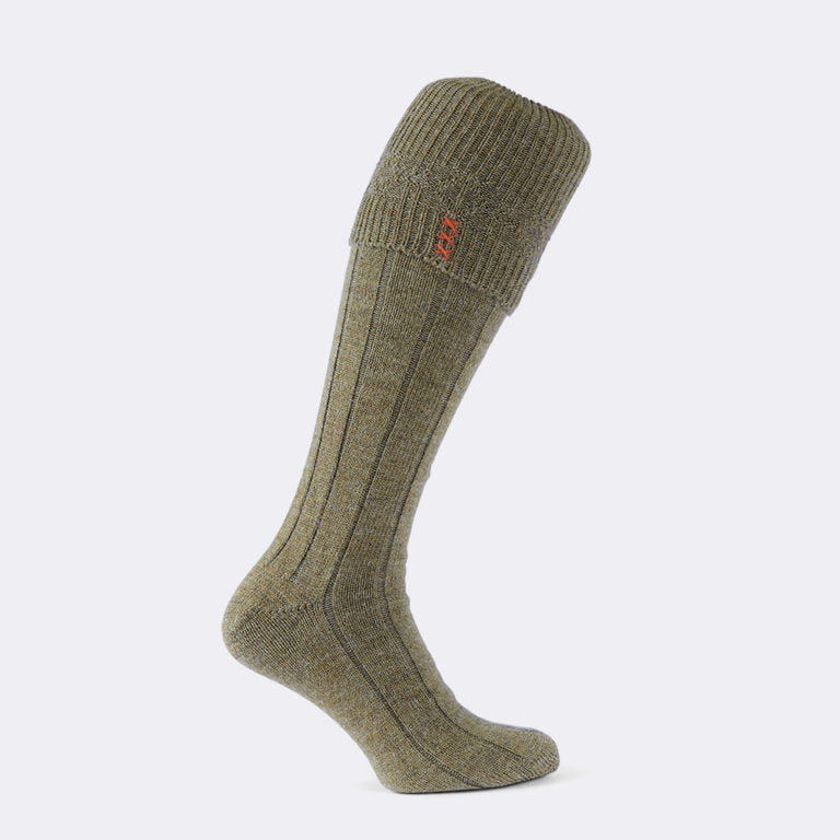 Hardwick Shooting Sock (Dark Oatmeal)