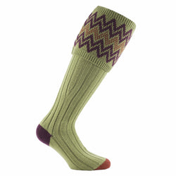 Denby Shooting Sock (Sage)