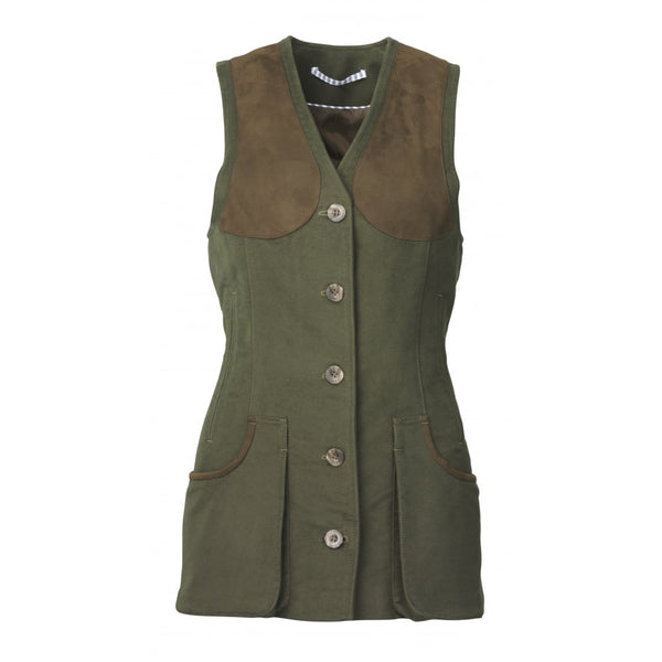 Lady Broadland Shooting Vest (Loden)