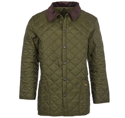 Barbour Mens Jacket Liddesdale Olive Quilted