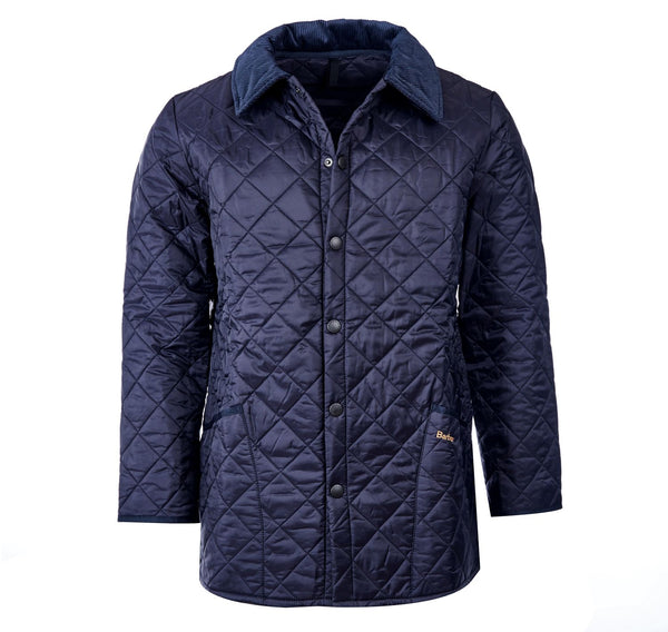 Barbour Mens Jacket Liddesdale Navy Quilted